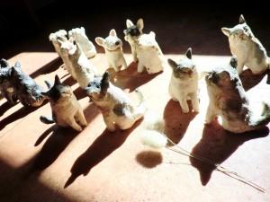 前川幸市さんの陶器の動物