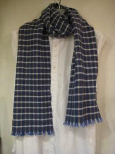 高見由香さんの手織りのストール